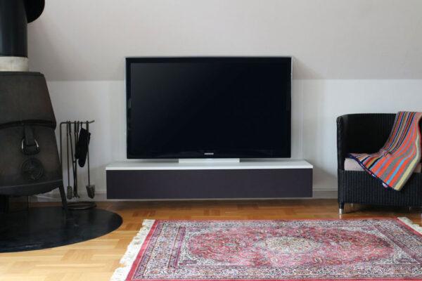 hvidt tv bord til soundbar