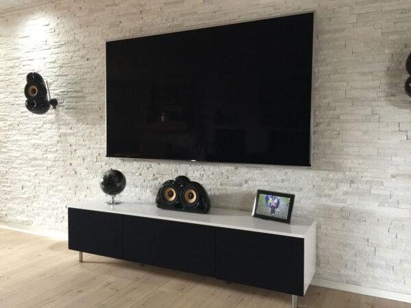 tv bord i højglans
