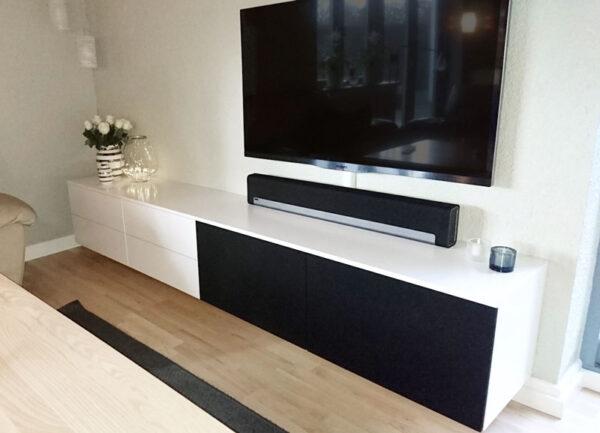 tv bord hvid med skuffer