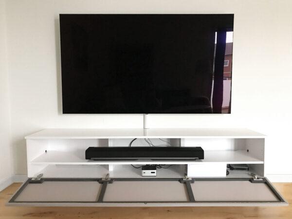 tv bord hvid