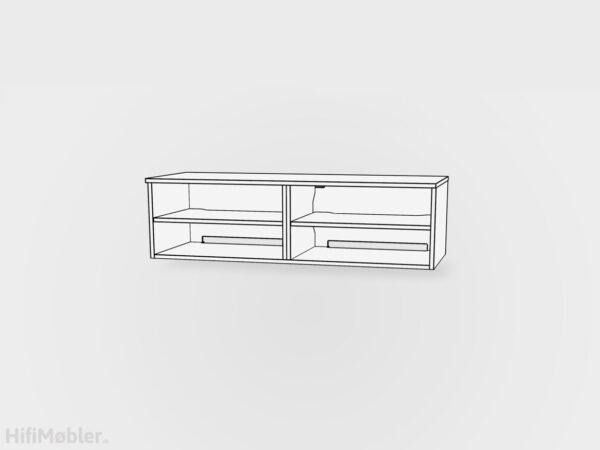 tv møbel 2 moduler med hylder